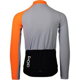 POC Essential Road Maillot à manches longues Homme, granite grey/zink orange